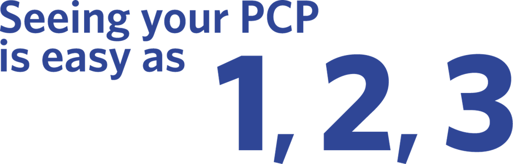 Seeing your PCP is as easy as 1, 2, 3…